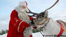 Weihnachtsmann Nikolaus Rentier
