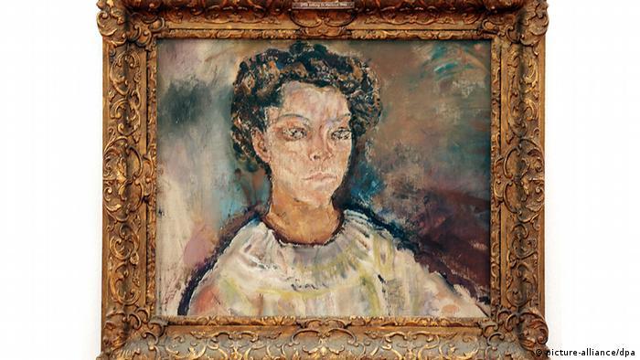 Das Gemälde mit dem Titel «Portrait Tilla Durieux» von Oskar Kokoschka