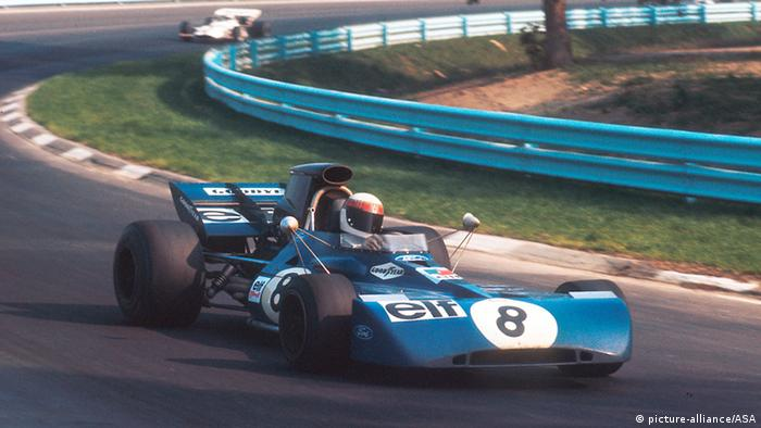 Jackie Stewart beim Grand Prix USA 1971. Foto: dpa-pa