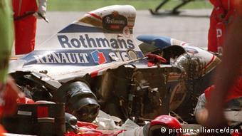 Ayrton Senna Wrack Grand Prix San Marino 1994