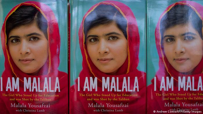 An autobiography by Pakistani schoolgirl Malala Yousafzai, entitled 'I am Malala' is pictured in a book store in London, on October 8, 2013. Co-written with British journalist Christina Lamb, I Am Malala: The Girl Who Stood Up for Education and was Shot by the Taliban tells of the 16-year-old's terror as two gunmen boarded her schoolbus on October 9, 2012 and shot her in the head. AFP PHOTO / ANDREW COWIE (Photo credit should read ANDREW COWIE/AFP/Getty Images)
