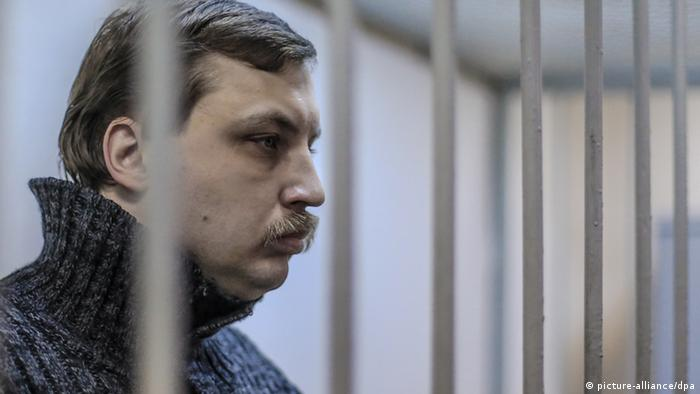 Mikhail Kosenko charged with organizing Bolotnaya Square mass riots on May 6, 2012, at a hearing at the Moscow City Court. (Photo: Andrey Stenin/RIA Novosti)