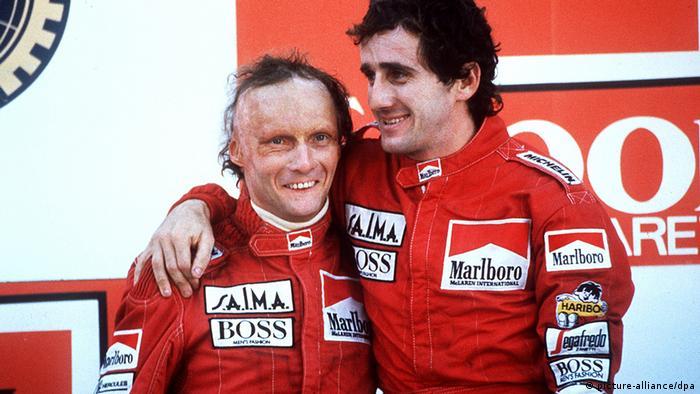 Österreich Motorsport Formel Eins Niki Lauda und Alain Prost (picture-alliance/dpa)