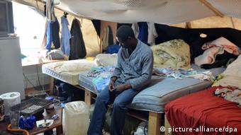 Berlin Flüchtlings-Camp am Oranienplatz