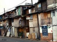 Favela en las afueras de Sao Paulo.