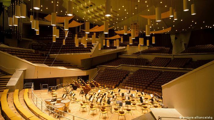 Deutschland Musik Berliner Philharmonie Innenansicht Konzertsaal