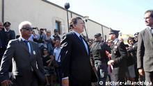 Italien EU Flüchtlinge EU-Kommissionspräsident Jose Manuel Barroso auf Lampedusa