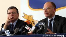 Italien EU Flüchtlinge Barroso und Letta auf Lampedusa Pressekonferenz
