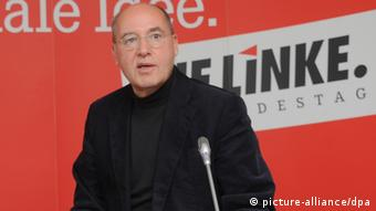 Left party leader Gregor Gysi. (Photo: Bernd Settnik, dpa)