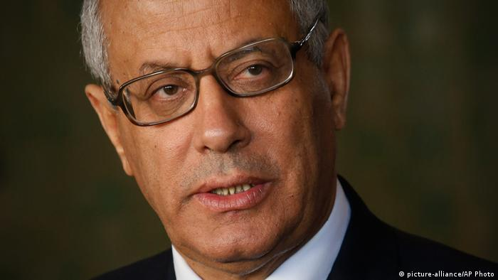 Libyan's Prime Minister Ali Zeidan speaks to the media during a press conference in Rabat, Morocco, Tuesday, Oct. 8, 2013. Libya¿s prime minister, on a visit to Morocco, has stressed the importance of relations with the U.S. but maintains that Libyans have the right to be tried for crimes at home. (AP Photo/Abdeljalil Bounhar)