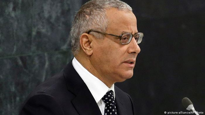 Libyan Prime Minister Ali Zeidan addresses the 68th session of the United Nations General Assembly, Wednesday, Sept. 25, 2013 at U.N. headquarters. (AP Photo/Frank Franklin II)