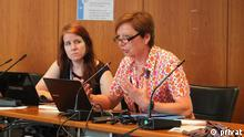 beim UNFCCC SB 38 meeting in Bonn Juni 2013. Foto: privat (erhlaten von Greta Hamann/DW)
