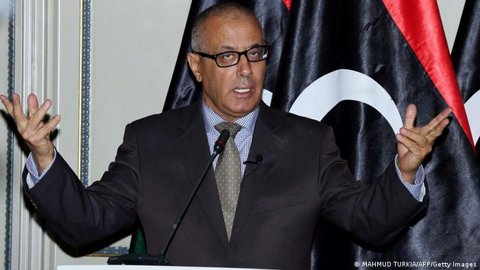 Libyan Prime Minister Ali Zeidan speaks during a press conference in the capital Tripoli on July 29, 2013. Zeidan said he would carry out a reshuffle of his government in the coming days, a move aimed at ending the country's current political crisis. AFP PHOTO/MAHMUD TURKIA (Photo credit should read MAHMUD TURKIA/AFP/Getty Images)