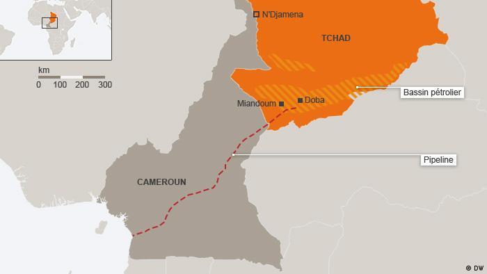 Un oléoduc achemine l'or noir du Tchad jusqu'au port camerounais de Kribi, d'où il est exporté