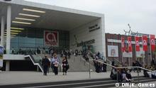 Main entrance of ANUGA, the world's leading food fair for the retail trade and the food service and catering market. *** Brazilian Products in ANUGA Ort: Köln Datum: 9.10.2013 Autorin: Karina Gomes (DW-Praktikantin)
