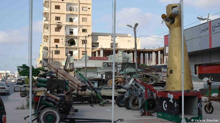 Misrata stellt Stolz Symbole der Revolution zur Schau (April 2013) Bilder von Valerie Stocker, freie Autorin, aufgenommen von ihr.