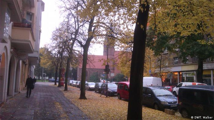 A road leading to a Pankow church
