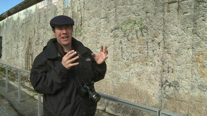 Jeremy Hexham at the Berlin Wall