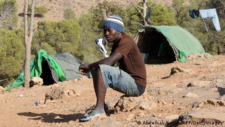 Afrikanische Migranten in Oujda Marokko 2012 (Abdelhak Senna/AFP/GettyImages)