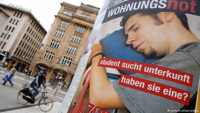 Werbung für Bereitstellung von Studentenunterkünften