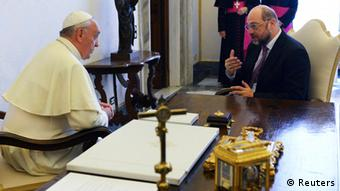 Pope Francis and Martin Schulz