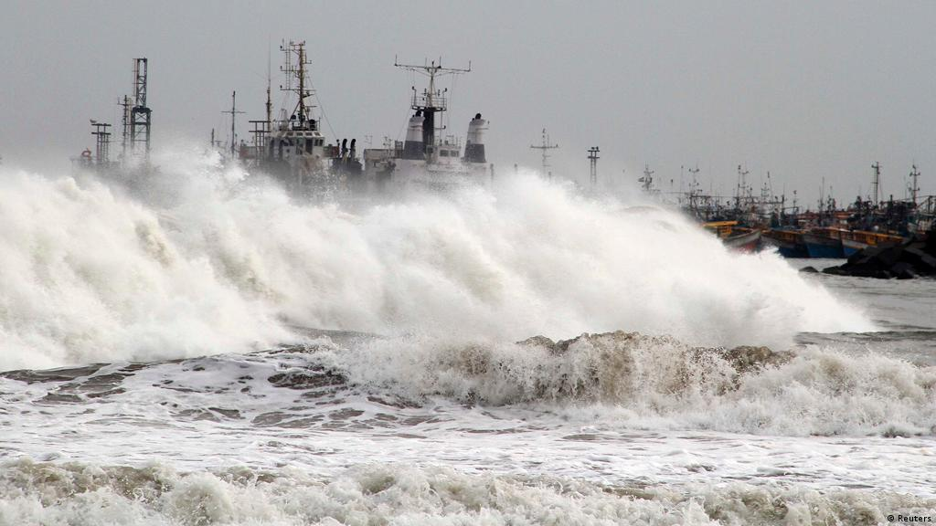 Mass evacuations as super cyclone Phailin makes landfall