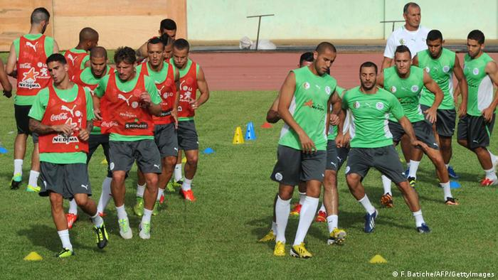 WM Qualifikation Algerien Training