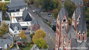 Aerial proto of Limburg diocese center (Thomas Frey/dpa)