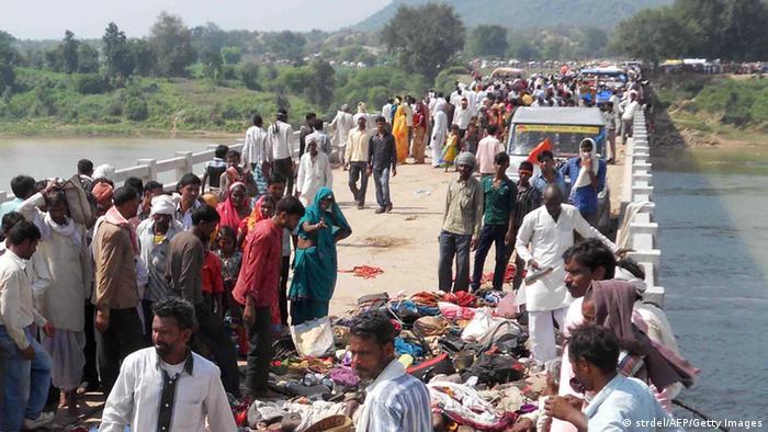 Massenpanik Ratangarh Tempel in Indien