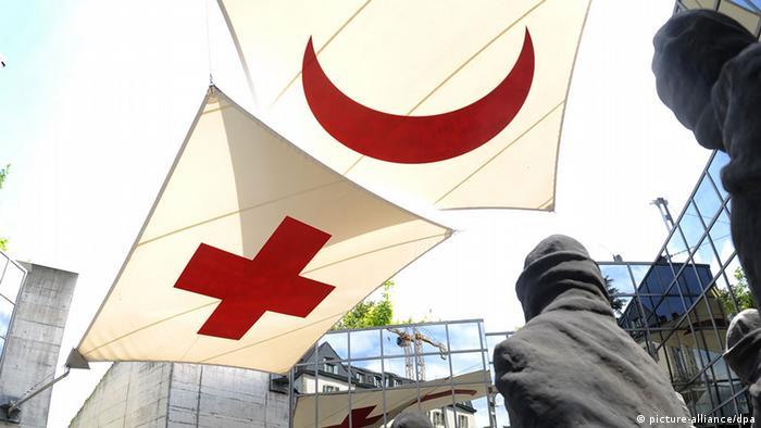 Eingang des Internationen Rotkreuz- und Rothalbmondmuseums in Genf, aufgenommen am 14.06.2008. Foto: Tony Marshall +++(c) dpa - Report+++