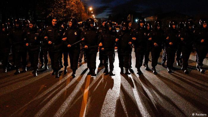 Полиция контролирует улицы Бирюлево