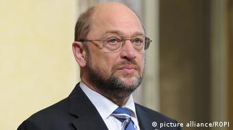 The president of the European Parliament Martin Schulz at Chigi palace. (Photo: source unknown)