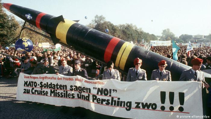 Легендарными стали в Германии многотысячные демонстрации против размещения американских противоракет Першинг в ФРГ.
