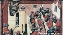Miniatur Kolleg des Augustinermönches Henricus de Alemannia EINSCHRÄNKUNG