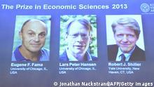 Wirtschaftsnobelpreis 2013 Fama & Hansen & Shiller
