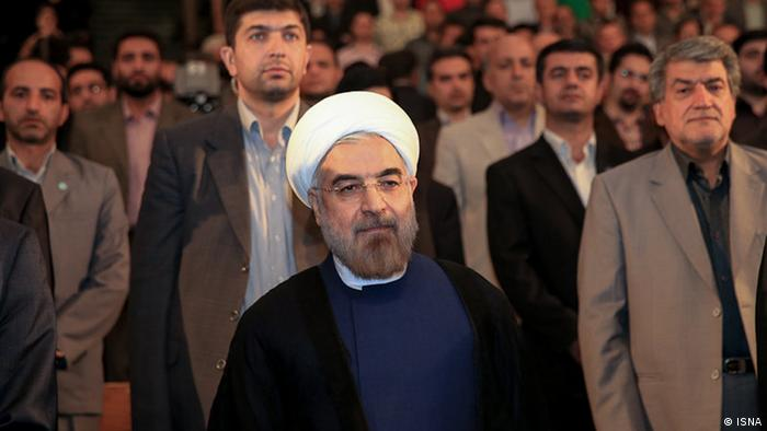 Hassan Rouhani at the University of Tehran Source: ISNA