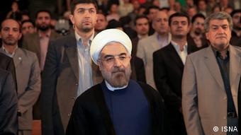 Iran Hassan Rohani an der Uni Tehran