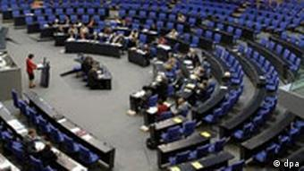 German parliament in session