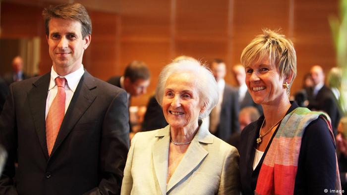 Johanna Quandt mit Stefan Quandt und Susanne Klatten (imago)