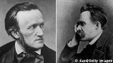Bildkombo Komponist Richard Wagner (links) und der deutsche Philosoph Friedrich Nietzsche