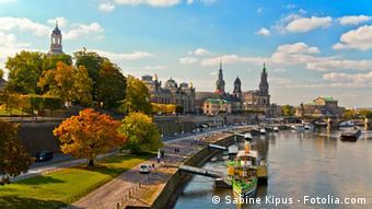 Набережная в центре Дрездена