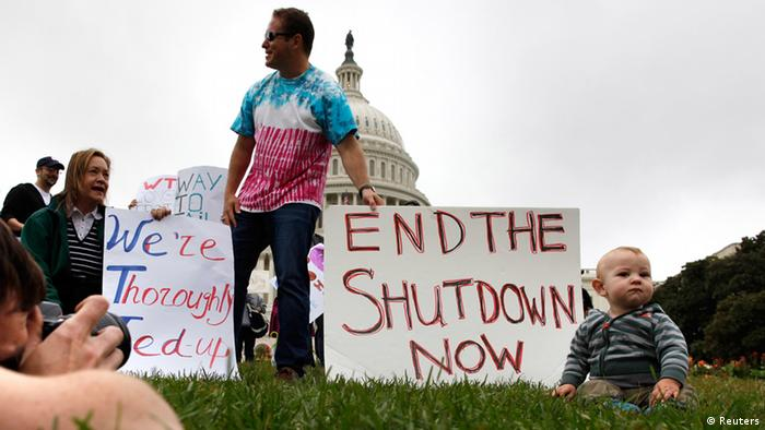 people protesting the shutdown REUTERS/Jonathan Ernst