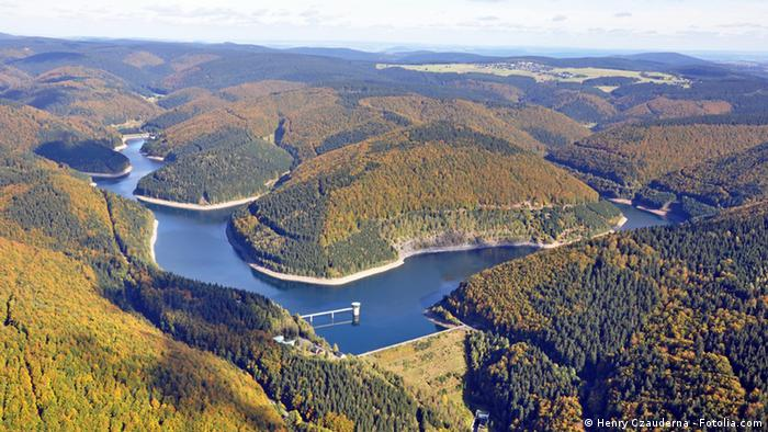 Aerial view of Thüringen forest
