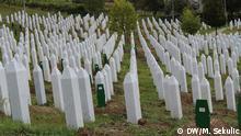 Bildbeschreibung: Muslimischer Friedhof in Srebrenica 15.10.2013