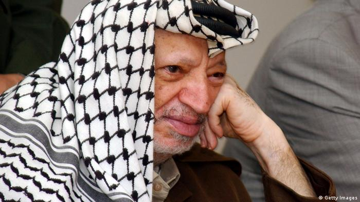Palestinian leader Yasser Arafat in 2004, shortly before his death. Photo: Getty Images
