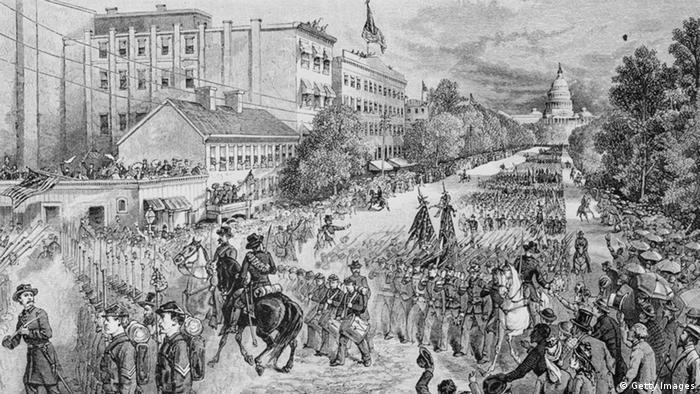 Gemälde einer Schlacht im amerikanischen Sezessionskrieg, etwa 1865 (Foto: Getty Images).