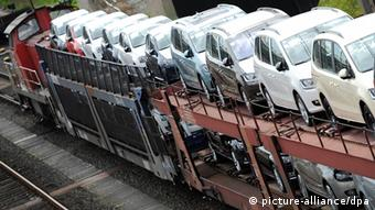 Транспортировка новых автомобилей Volkswagen