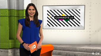 Beschreibung: Camarote.21 Moderatorin Francis Franca