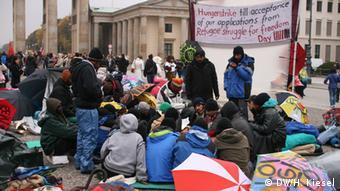 Hungerstreik von Asylbewerbern Foto: DW/H. Kiesel