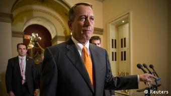 Speaker of the House John Boehner walks to the House floor during the vote on the fiscal deal in the U.S. Capitol in Washington October 16, 2013. Photo: REUTERS/Kevin Lamarque